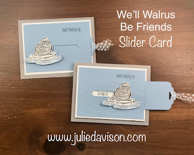 VIDEO: Stampin' Up! We'll Walrus Be Friends Slider Card Tutorial ~ Fun Fold Series ~ www.juliedavison.com