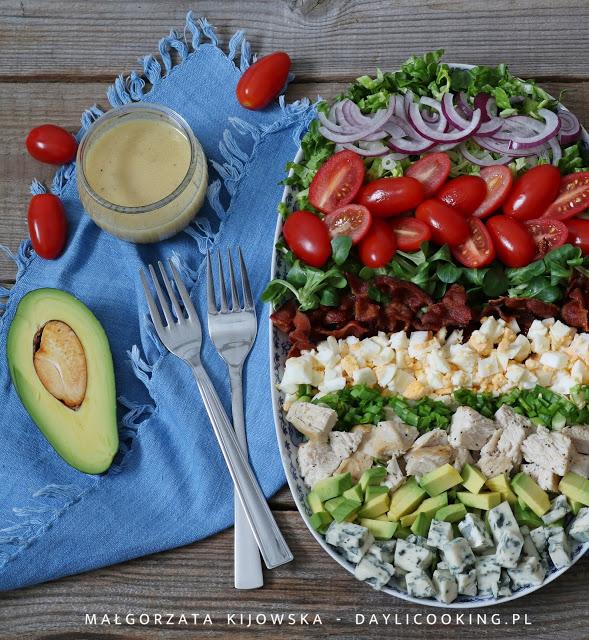 przepis na sałatkę Cobb, jak zrobić Cobb Salad, przepis na sałatkę z restauracji sieciowych