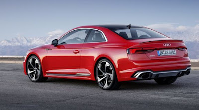 Audi RS5 Coupe car pictures - red color back view