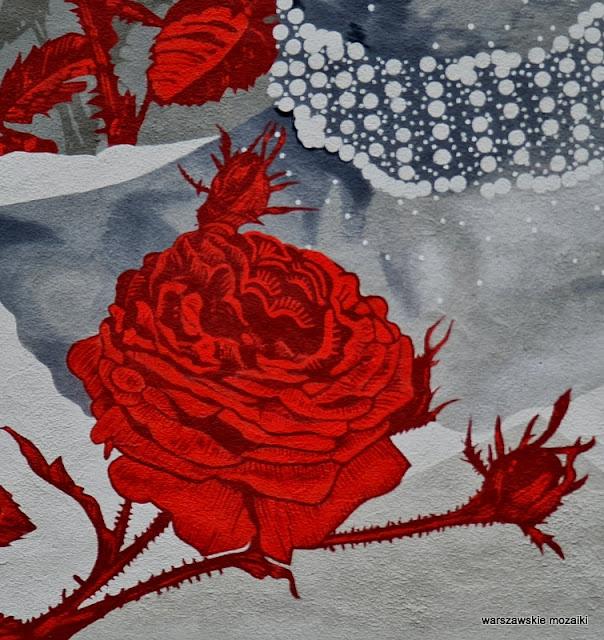 Warszawa Warsaw Stare Bielany warszawskie murale streetart muralart Tomasz Majewski Works Good Looking Studio róża