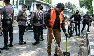 Ratusan ribu pelanggar PSBB di Jakarta diberikan sanksi