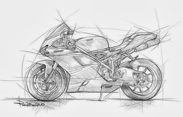hecho con l u00e1piz  bocetos de motos
