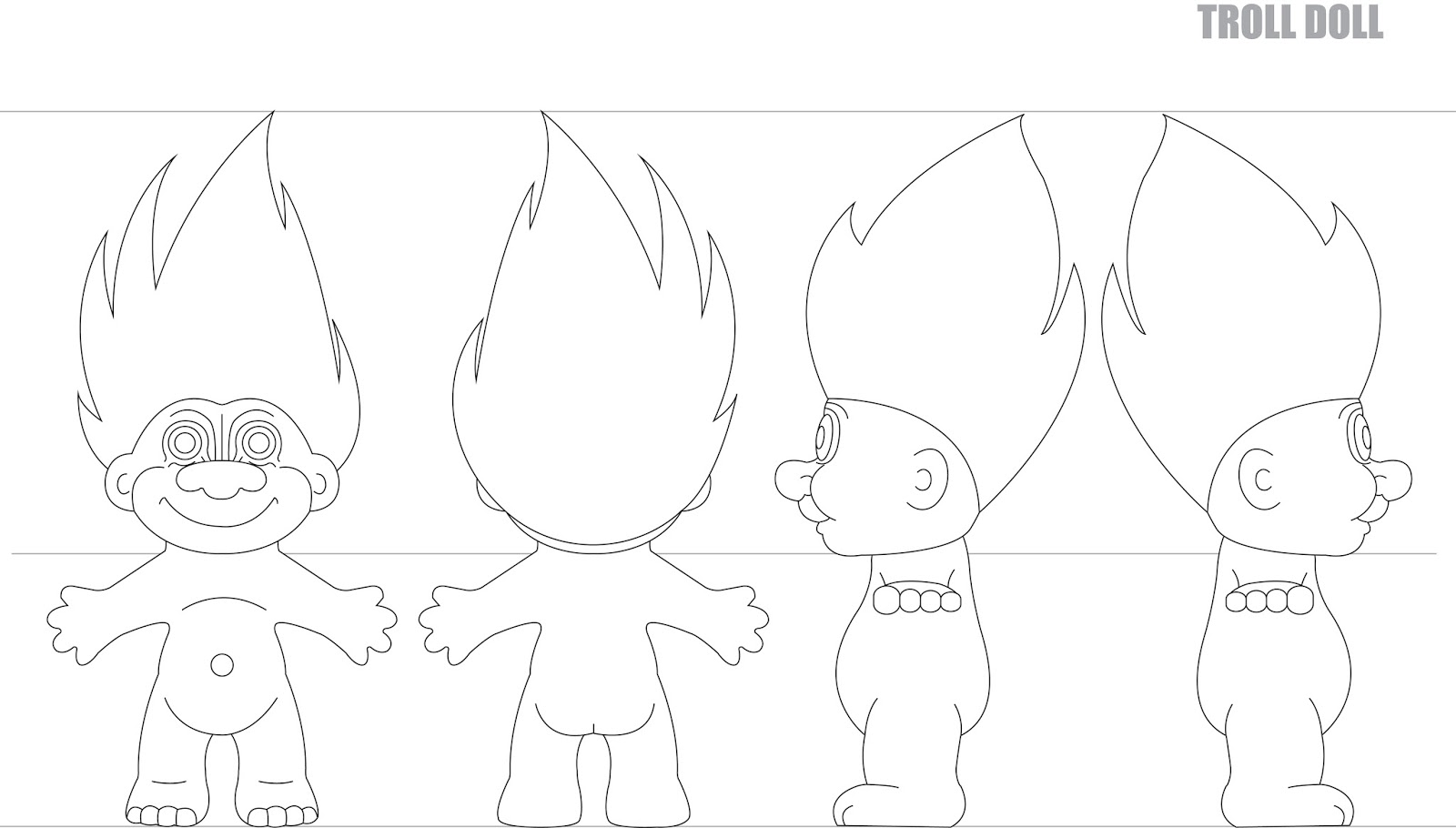 Troll Doll Model Sheet