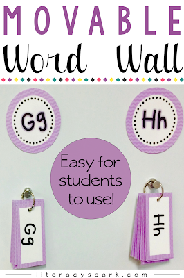 Are you tired of your students crowding around your word wall or running out of space for new words?  Save space and make your word wall interactive by creating a movable word wall!