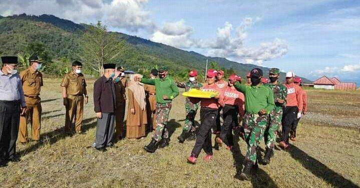 Bupati Adirozal Tinjau Latihan Paskibraka serta Lihat Pembangunan Kantor Bupati di Bukit Tengah
