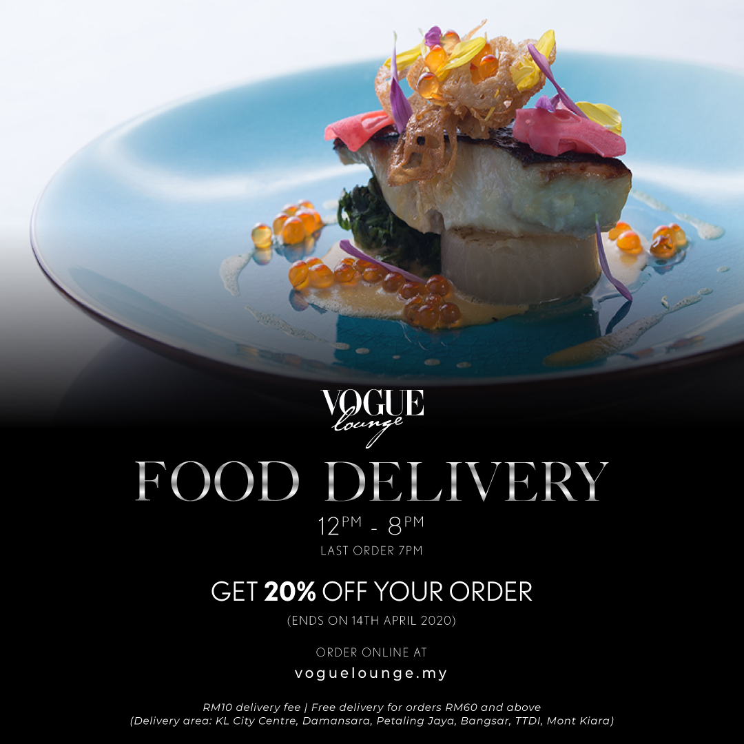 Vogue Lounge KL: 20% Off Food Deliveries Throughout MCO