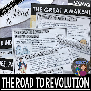 Thumbnail image of Road to Revolution PowerPoint by History Gal
