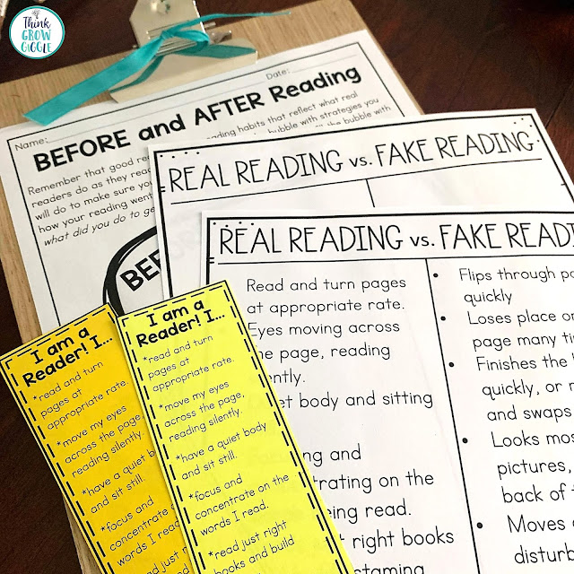 real vs fake reading anchor chart for first 20 days of reading