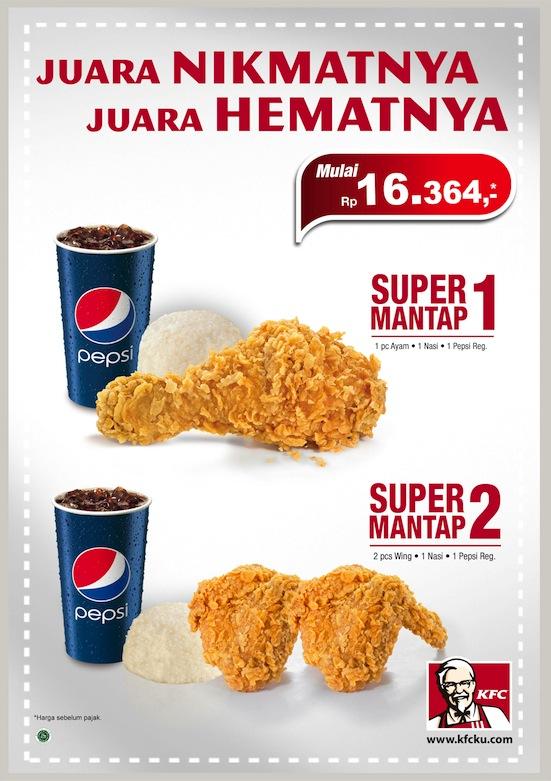 Promo KFC Paket Super Mantap 2018