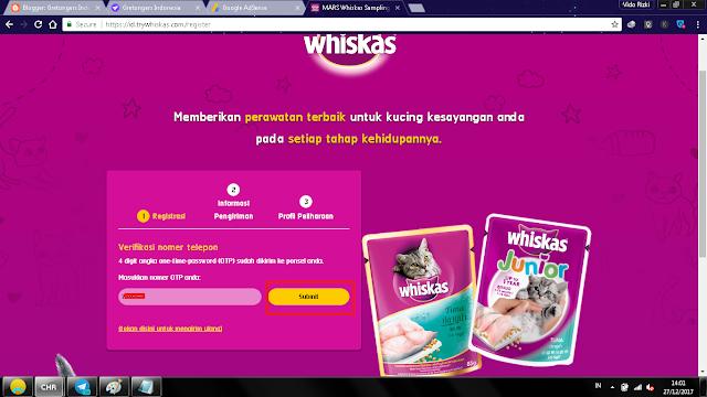 Cara Mendapatkan Whiskas Secara Gratis , idgretongers.com