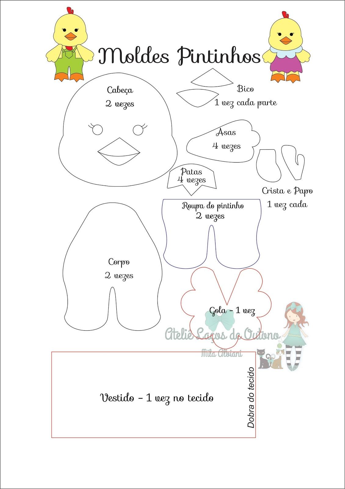Famosos Mila Arts - moldes e PAP: Bichinhos da Fazenda - Molde gratuito IJ52