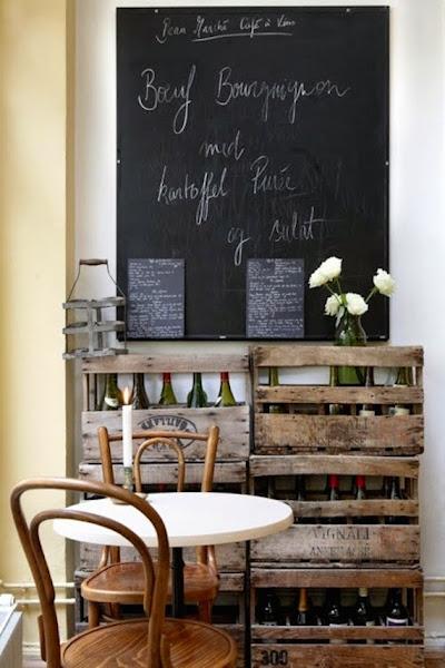 cocinas con paredes decoradas con pizarras