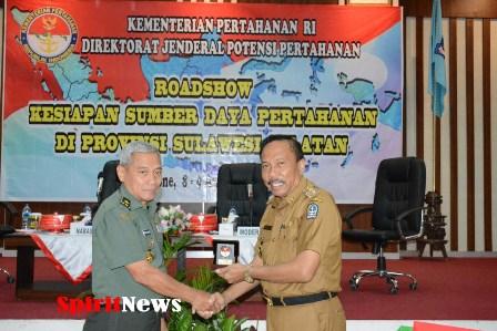 Brigjen TNI Untung Waluyo,S.E, Bacakan Sambutan Dirjen Potensi Pertahanan