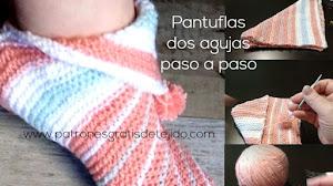 Pantuflas Dos Agujas Para Todos los Talles | Tutorial