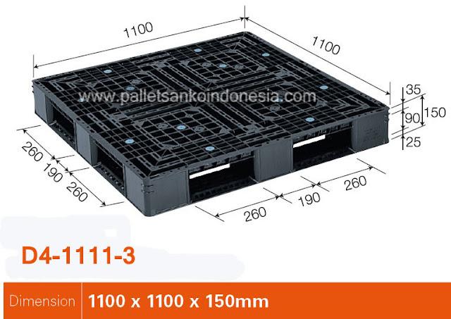 Pallet Plastik D4-1111-3