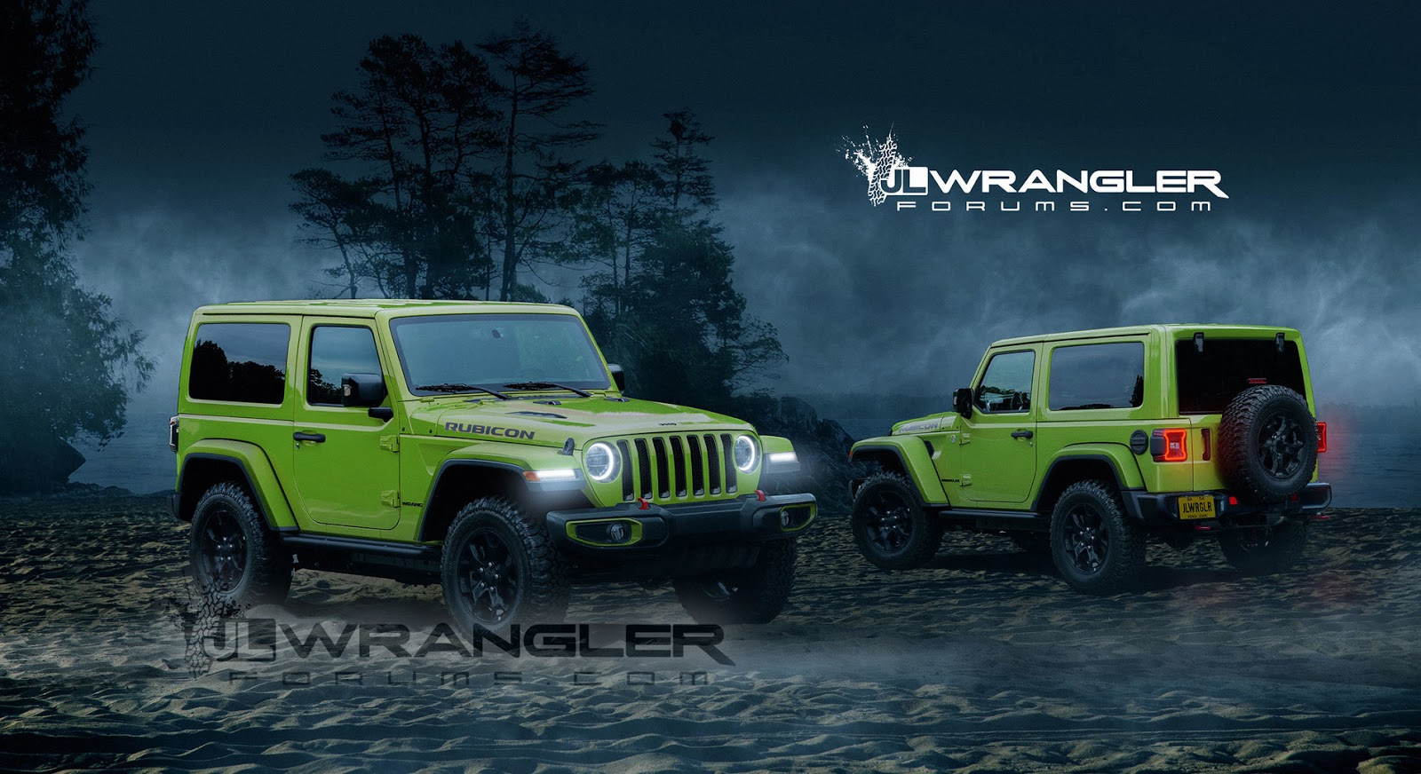 all new 2018 jeep wrangler looks the goods in two door guise carscoops. Black Bedroom Furniture Sets. Home Design Ideas