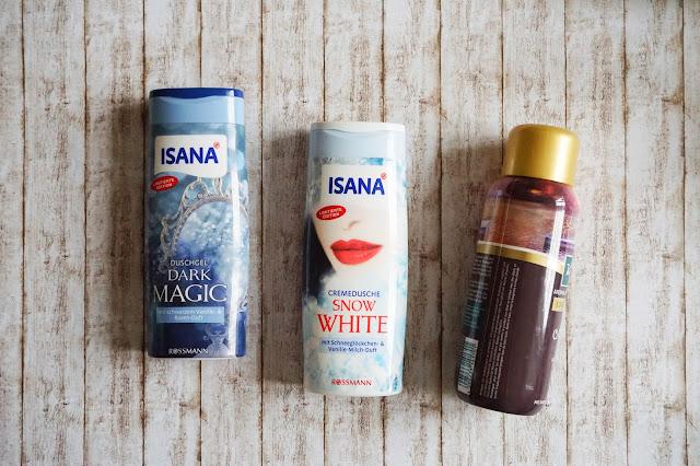 Isana - Duschgel Dark Magic  Isana - Cremedusche Snow White  Kneipp - Aroma-Pflegeschaumbad Offline