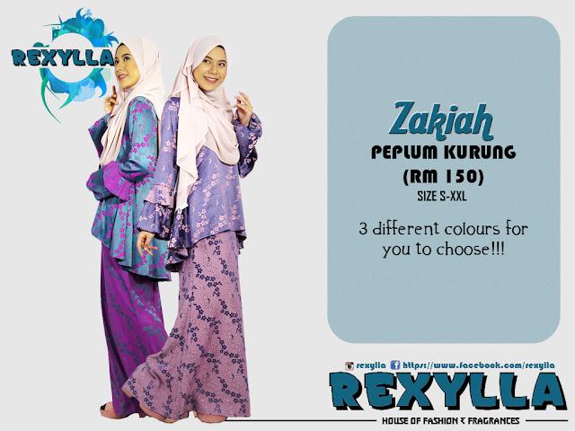 rexylla, peplum kurung, peplum jacquard kurung, zakiah collection