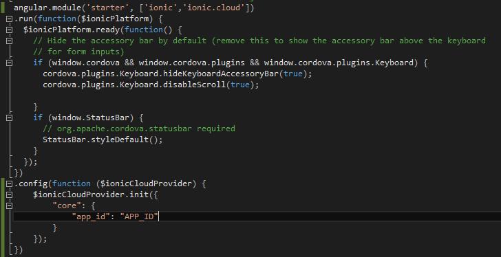 ASP NET / ASP NET Core: Ionic : Push Notifications using