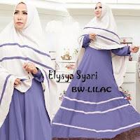 Elysya BW Lilac adalah Gamis Syari Modern dengan model Baju Gamis Syari