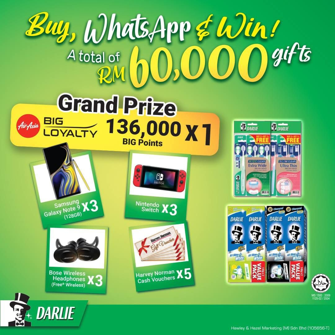 Darlie: Buy, WhatsApp & Win!