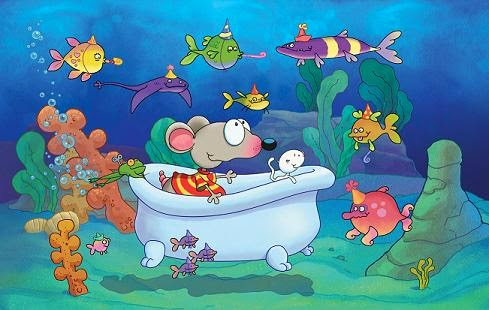 toopy and binoo birthday fish scene