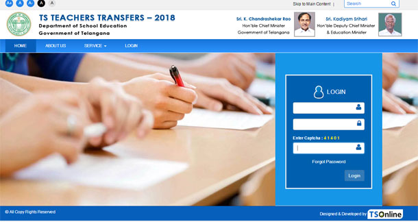 Teachers Transfers 2018-2019 Telangana online application form submission procedure