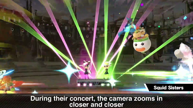 Super Smash Bros. Ultimate Squid Sisters Assist Trophy concert