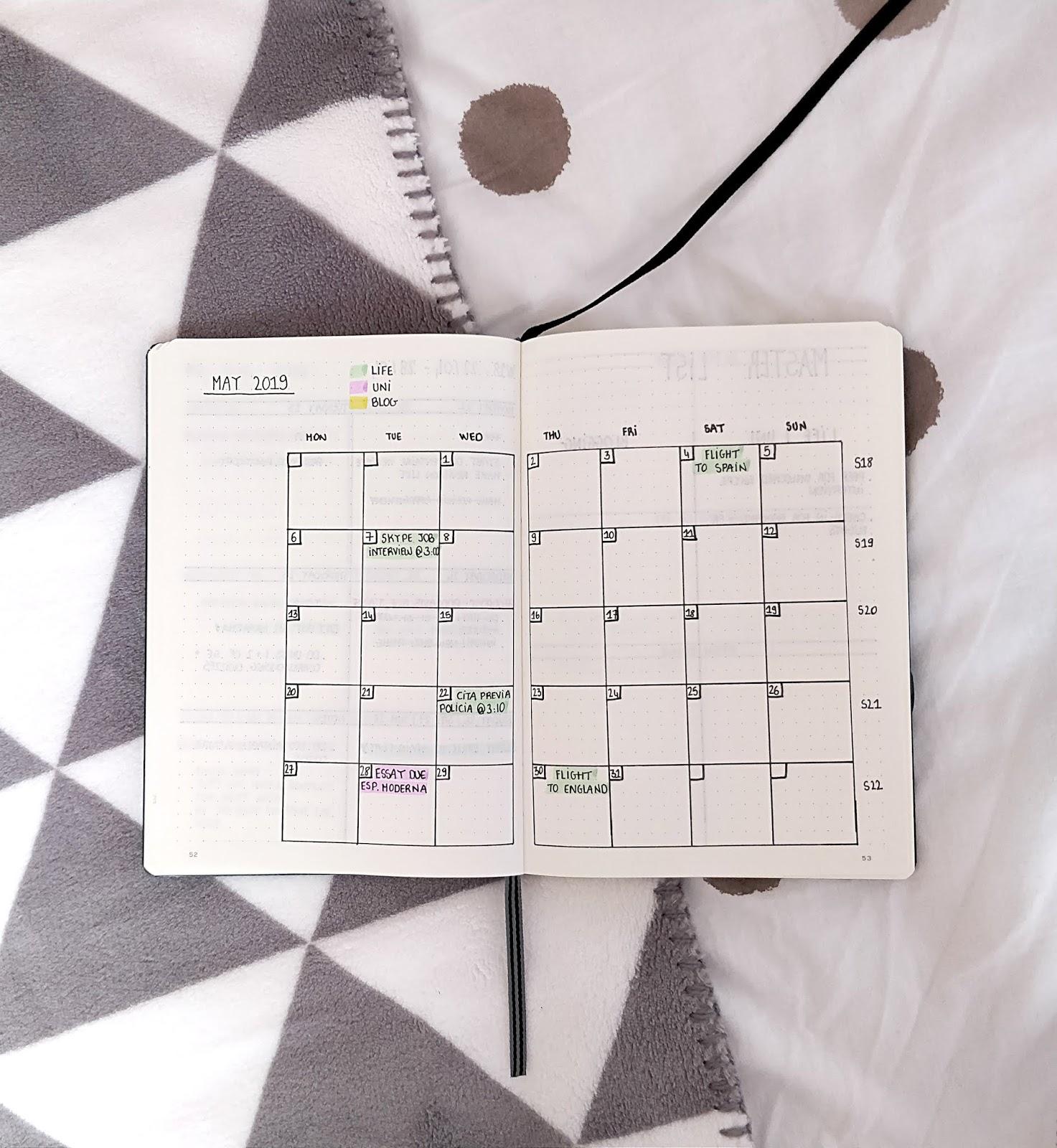 mois de mai 2019 to do liste choses à faire