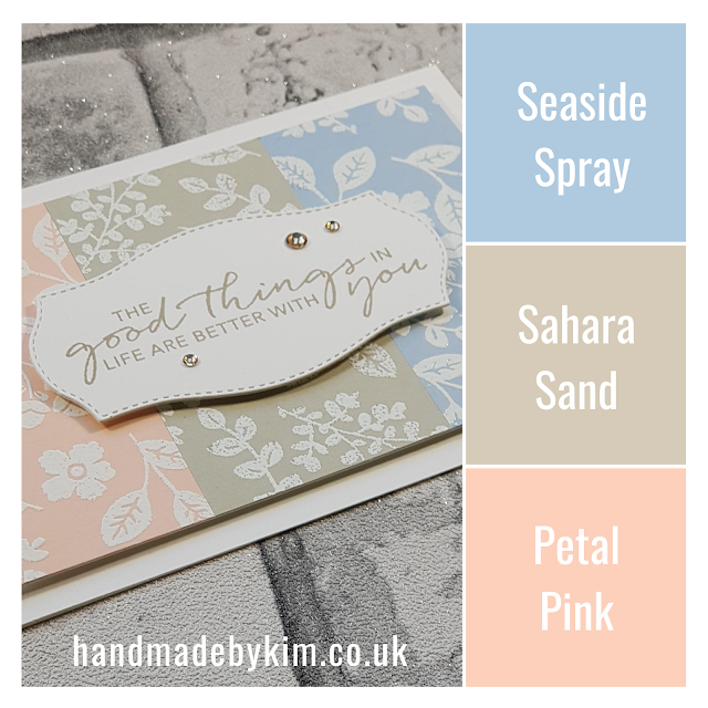 Lovely You Stampin' Up! Colour Combo Seaside Spray, Sahara Sand, Petal Pink