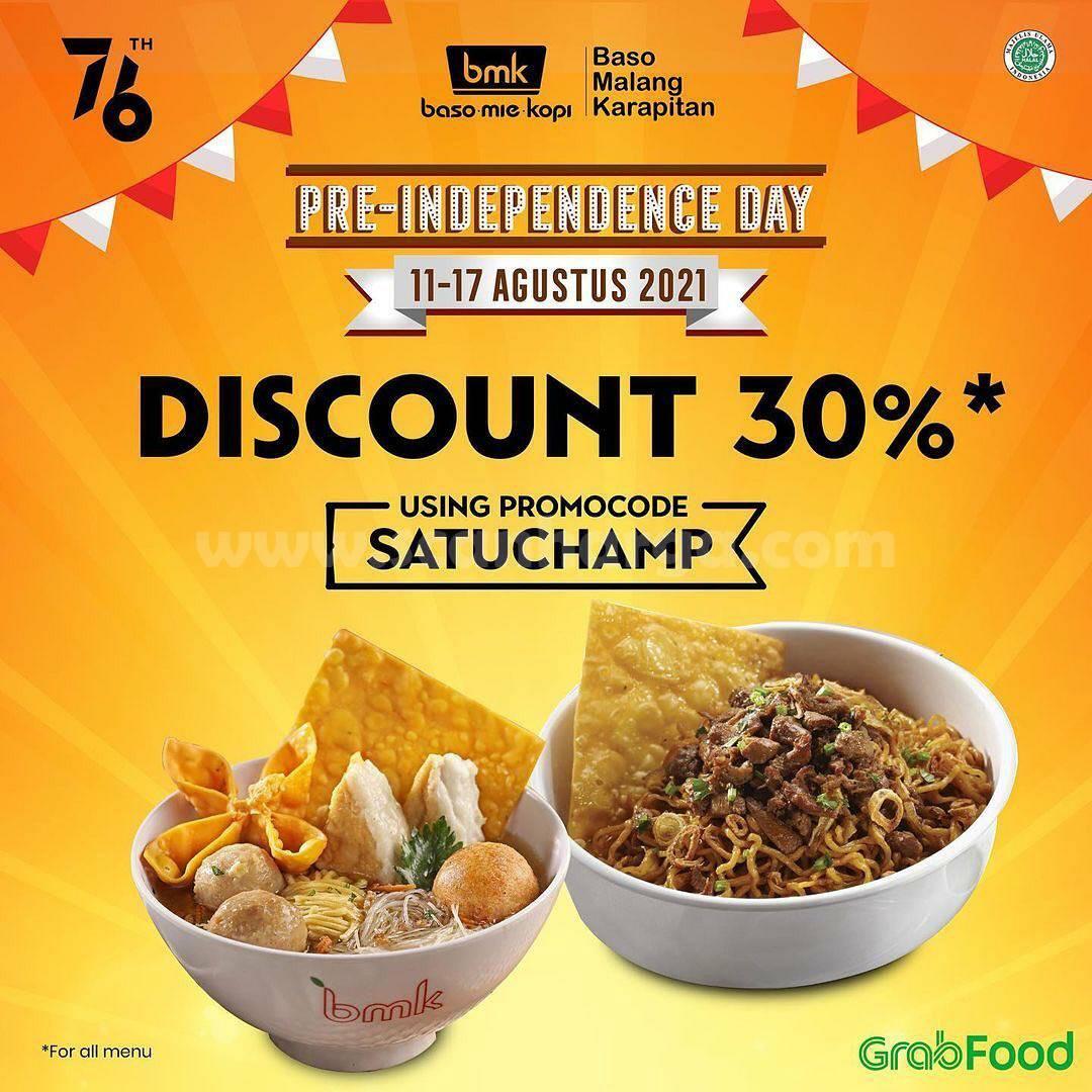 Promo BMK (Baso Mie Kopi) Diskon 30% - Pre Independence Day via Grabfood
