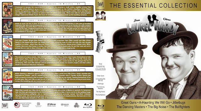 Laurel & Hardy: The Essential Collection Bluray Cover