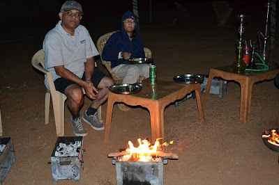 BBQ and campfire at rusticville
