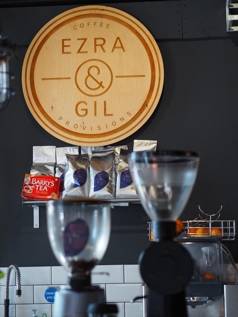 Ezra and Gil sign