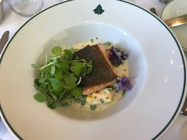 The Ivy, Edinburgh, Dinner, Salmon,