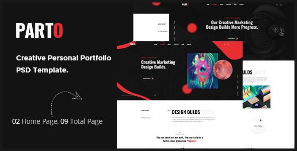 Best Creative Personal Portfolio PSD Template