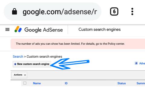 custom google search box