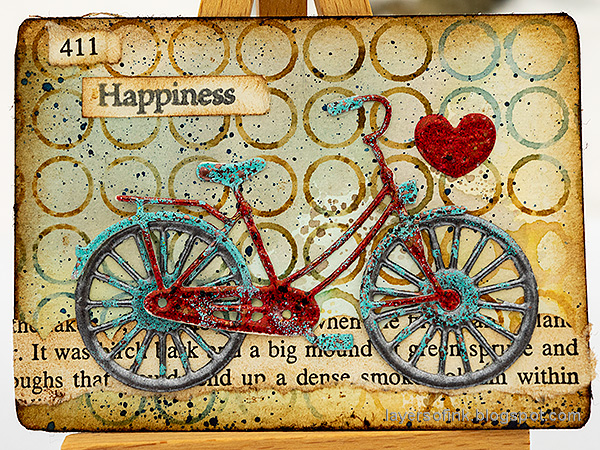 Layers of ink - Bicycle Artist Trading Card by Anna-Karin Evaldsson.