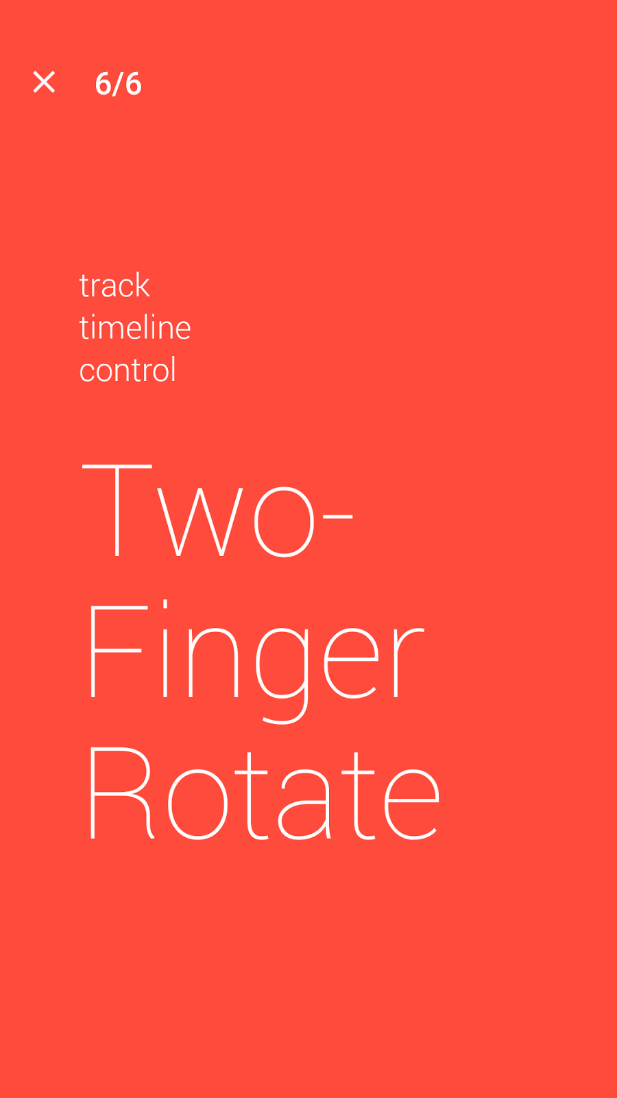 Two finger rotate back and forth to control music player timer