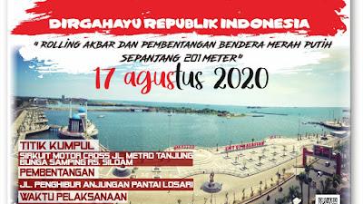 17 Agustus Besok,Komunitas Makassar Racing Ajak Pemuda Pemudi Pencinta Otomotif Bergabung Untuk  Pengibaran Bendera Sepanjang 201 Meter