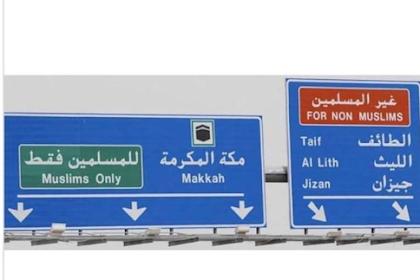 Petunjuk Jalan di Arab Saudi Dijadikan Pembenaran, Balasan Netizen Telak
