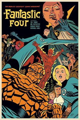 Fantastic Four Screen Print by Michael Cho x Mondo x Marvel Comics
