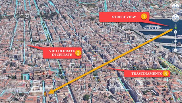passaggio da google earth a street view