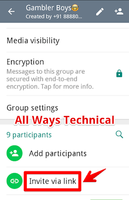 How To Make Whats App Group Link - Step4