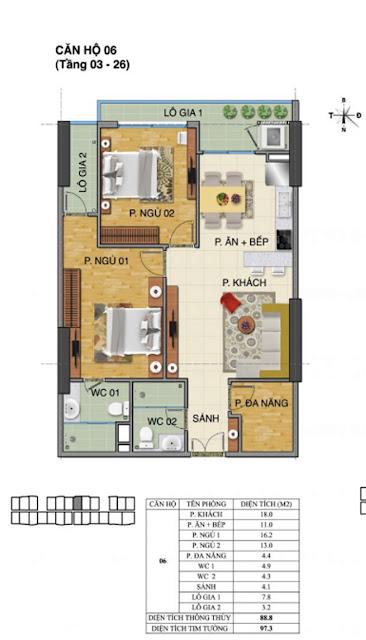 Căn hộ số 06 tòa nhà Trường Thành B- Tràng An Complex