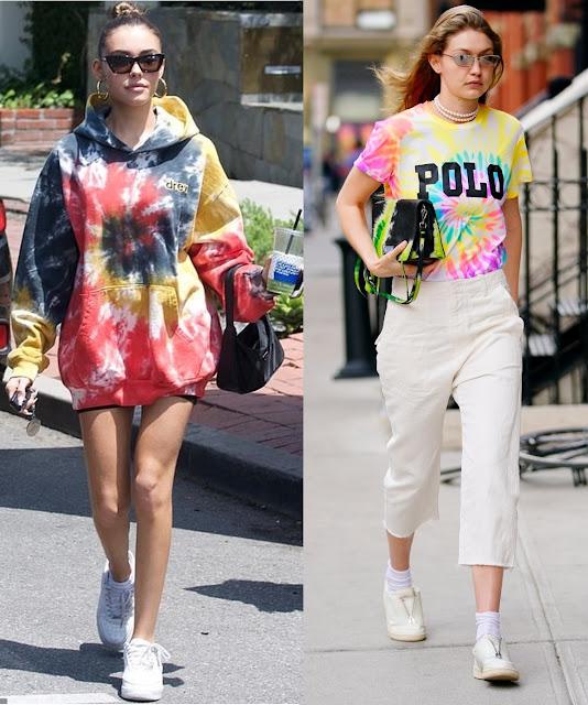 Madison Beer, Gigi Hadid famosas usando tie dye