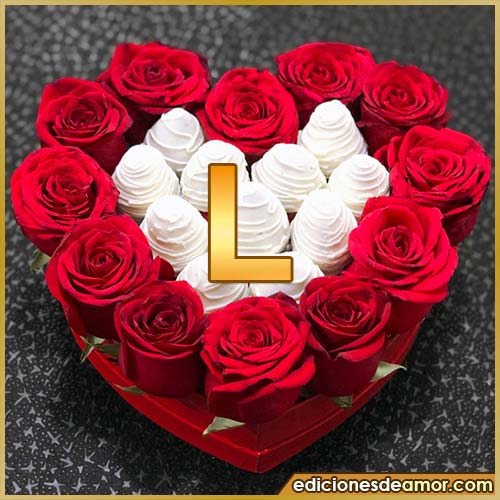 corazón de rosas rojas L