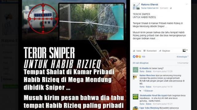 Astaga, Kamar Habib Rizieq Ditembak Orang tak Dikenal