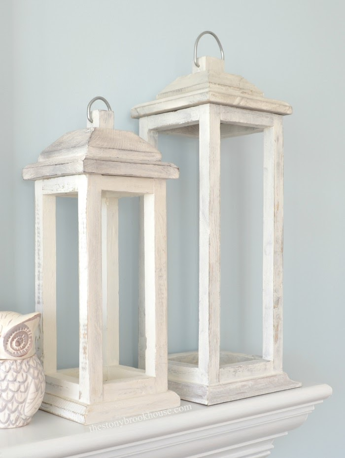 Rustic Wood Lanterns made with scrap