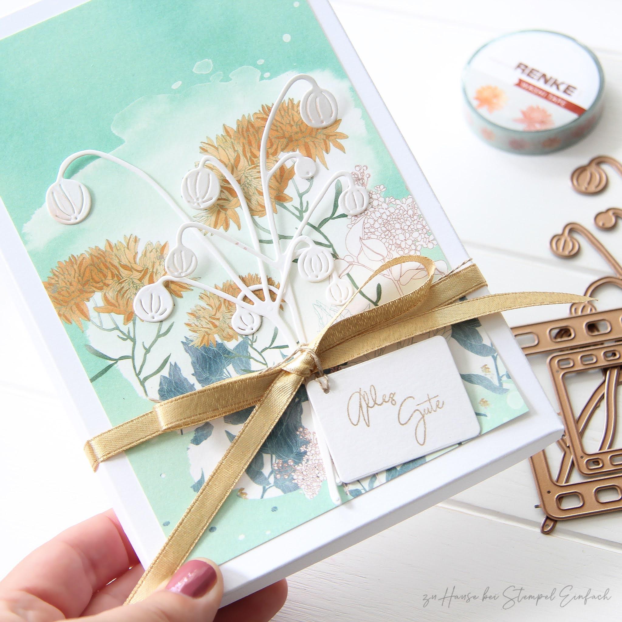 kleine Verpackung mit der Stanze Bommel-Zweige von Alexandra Renke
